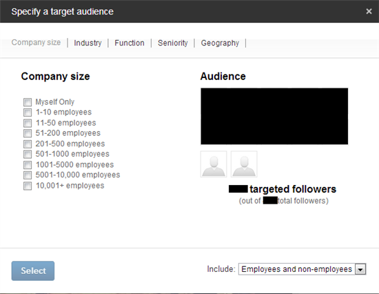 Use LinkedIn Targeted Updates to segment your audience.